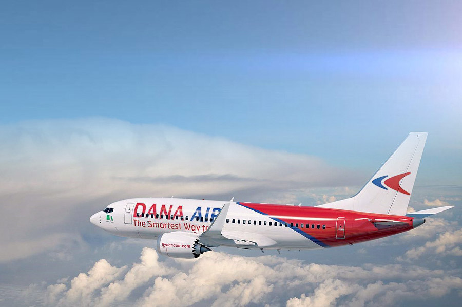 Dana Air Nigeria airline booking and reservation website development