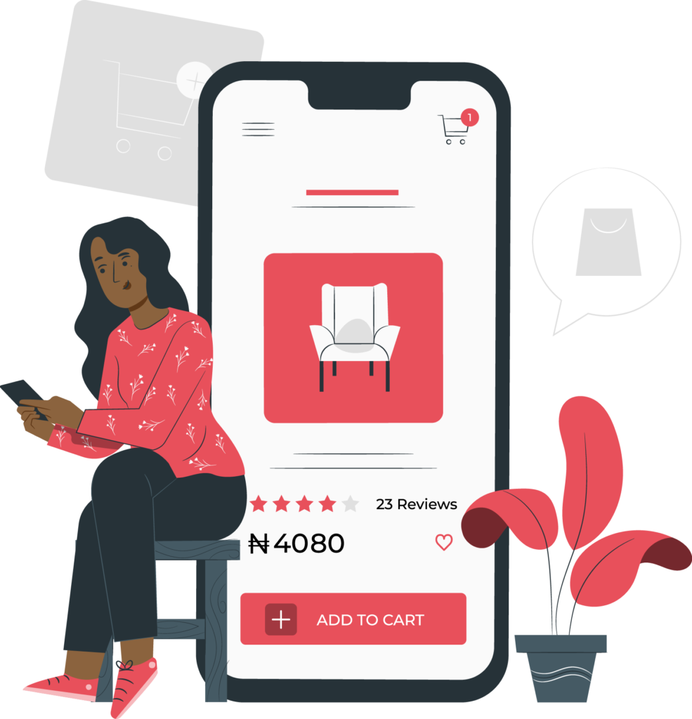 An ecommerce business owner with her website